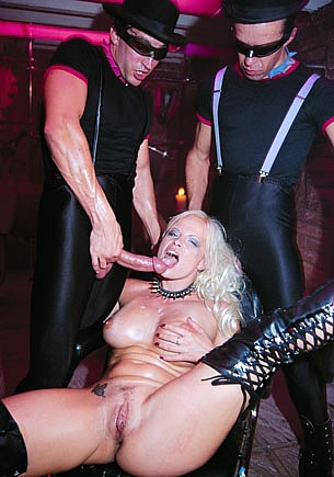 Ingrid Sweede Enjoys DP in a Fetish Gangbang