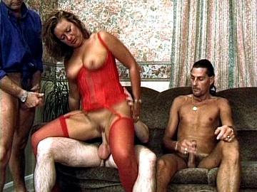Horny Housewife Barbara Has a Fantasy of Fucking Three Men at Once