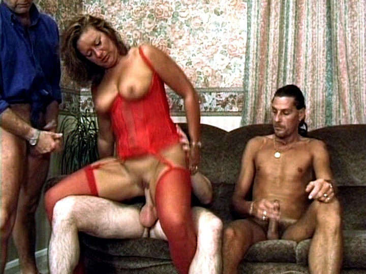 Horny Housewife Barbara Has a Fantasy of Fucking Three Men at Once