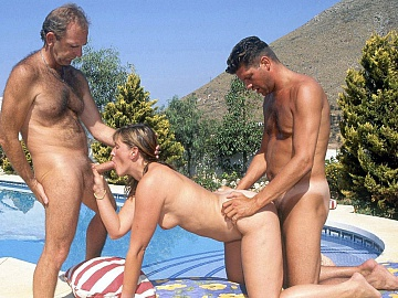 Brandy Swims in the Hotel Pool and Then Has a Threesome Later
