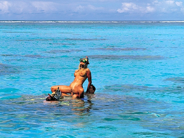 Katja Has Sex Underwater in the Tropical Waters near Bora Bora
