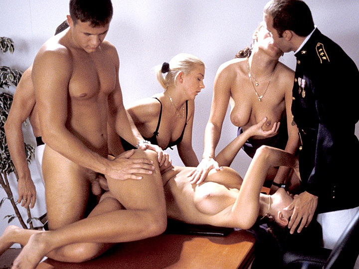 Cristina Nicole Thomson and Noemi Get Caught Muff Diving by Their Boss