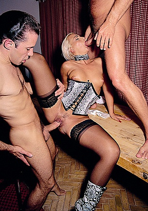 After her Casting Nicole's Big Butt is Trashed By Two in Orgy