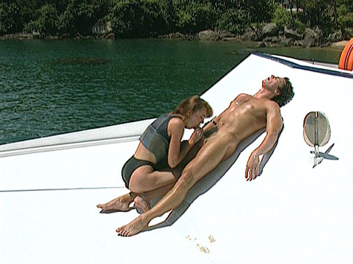 Pussy Haired Irina Gets Anal in a Boat