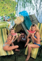 Jaqueline Stone & Victoria Swinger with the Watermelon - thumb 2
