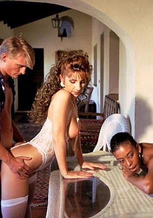 Jamie Lee & Rosanna Mendes in a Vintage Porn Orgy