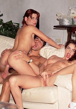 Katalin & Melinda in an Anal Trio