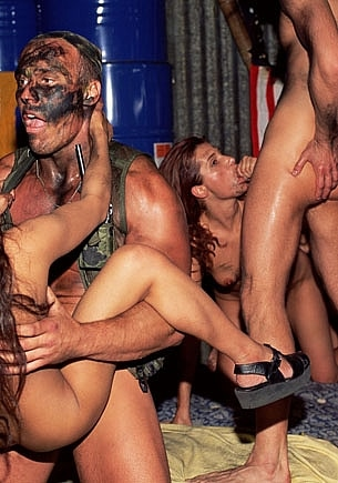 Eva Falk, Melissa Hill & Linda Enjoy with the Amry in an Orgy