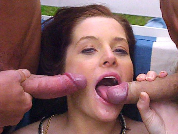 Angelica Bella, DP Threesome in the Garden