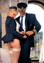 Malena Conde, Horny Stewardess - thumb 1
