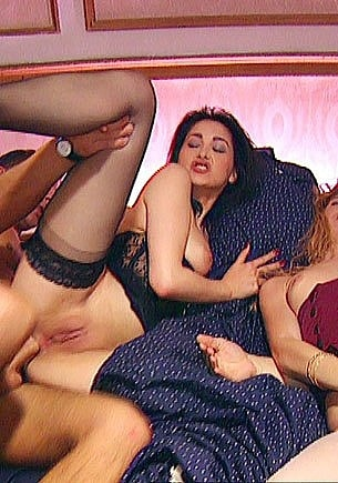 Coralie & Lisa Street in an Anal Orgy