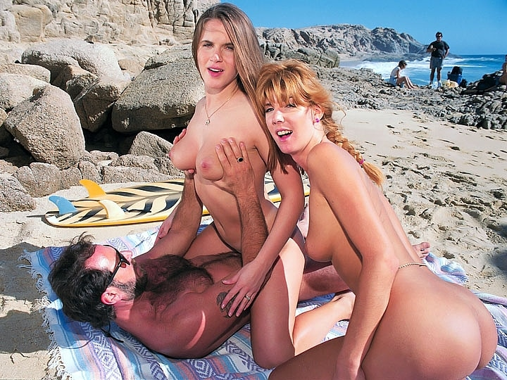 Tricia Deveraux & Christy Lake, Anal Threesome with the Surfer