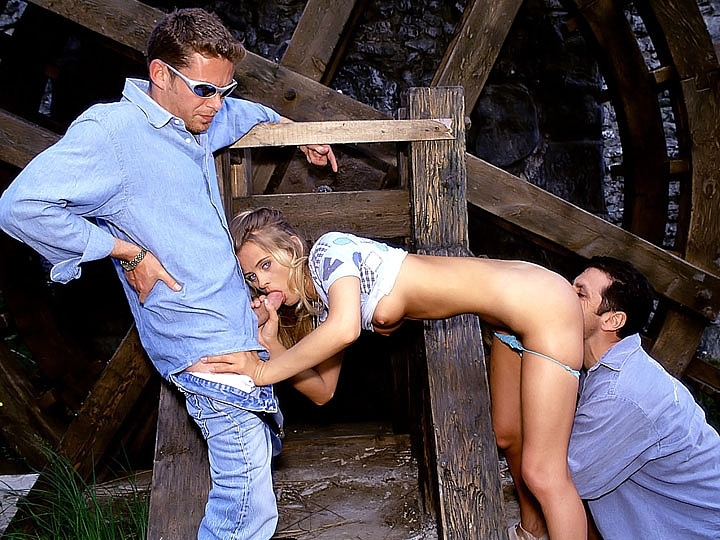 Liga, Anal Threesome in the Watermill