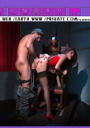 Victoria Enjoys Anal in a Torture Chair