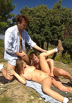 Tricia Deveraux  Gets  a DP Threesome in the Country