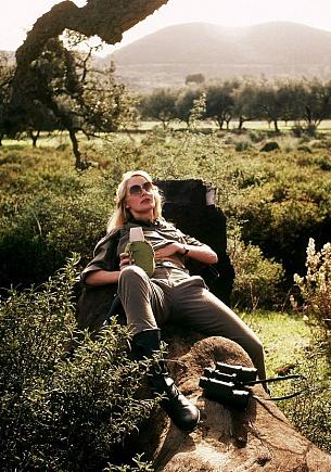 The adventurous Marian on safari tour