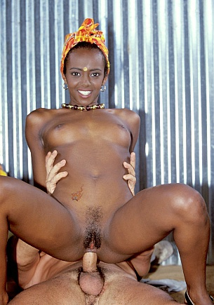Ebony Beauty Bagheera Is Fucked in a Boat Yard by a Hard White Cock